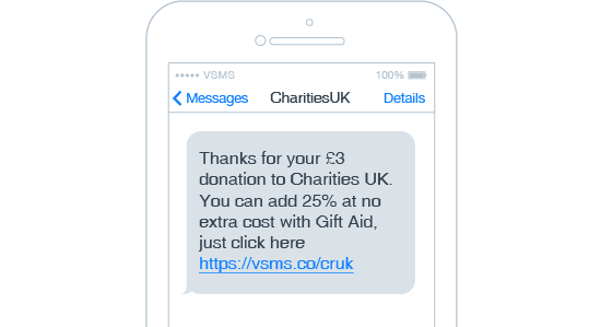 Charity SMS Example