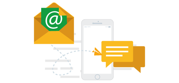 how to send sms from email to at&